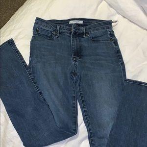 Blue skinny jeans!